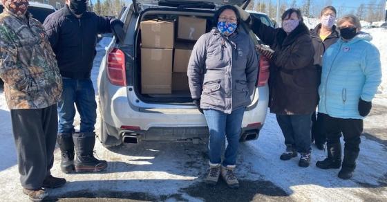 Winter food hamper program for 10 Thompson seniors made last