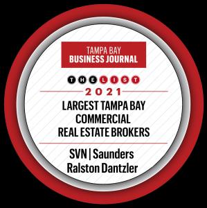SVN   Saunders Ralston Dantzler Ranked Among Tampa Bay's Largest